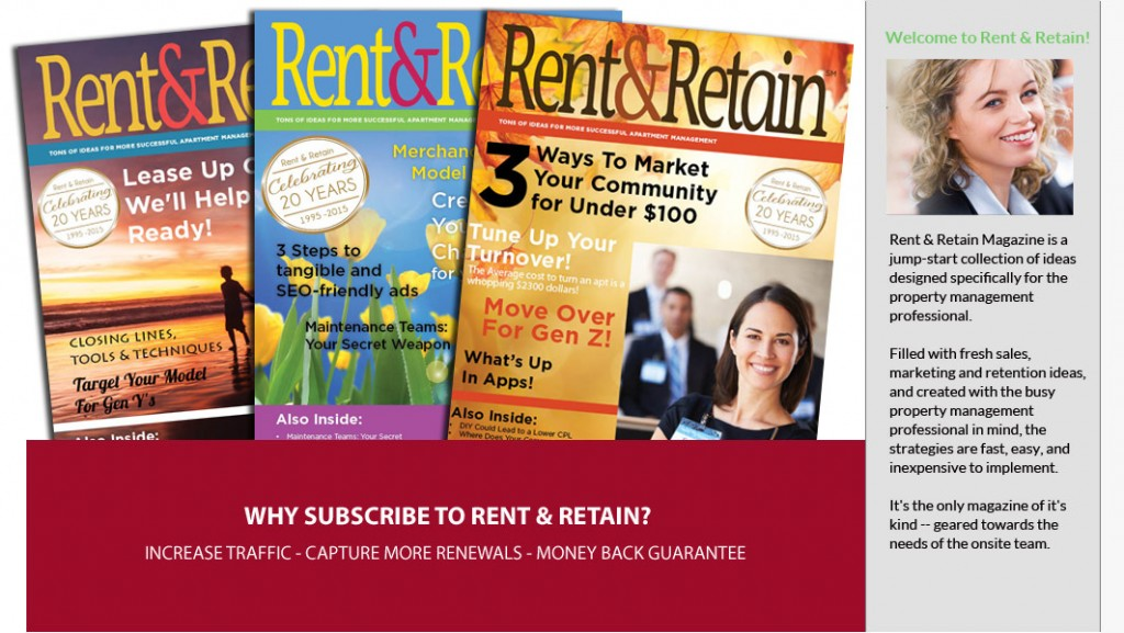 Rent and Retain New Covers